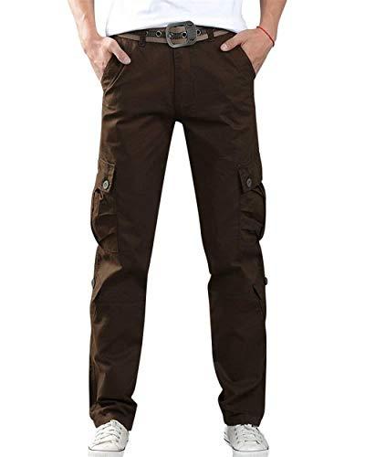 Lunghi Da Outdoor Pantaloni Lavoro Kaffeebraun Allenamento Tasche Tendenza All'outdoor Stretch Bobo Diverse Chino Con Cargo Uomo Sportivi 88 Di qHx5Uwt6X