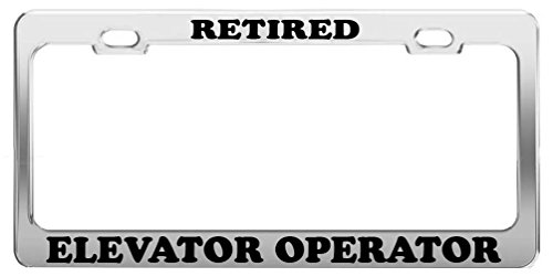 Nicholas Dunlop RETIRED ELEVATOR OPERATOR License Plate Frame Tag Car Truck Accessory Gift