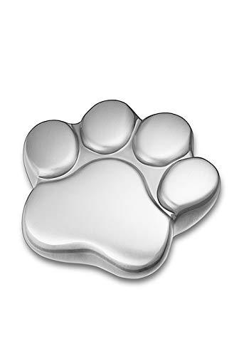LegendURN Pet urn 'Paw Print' satin silver