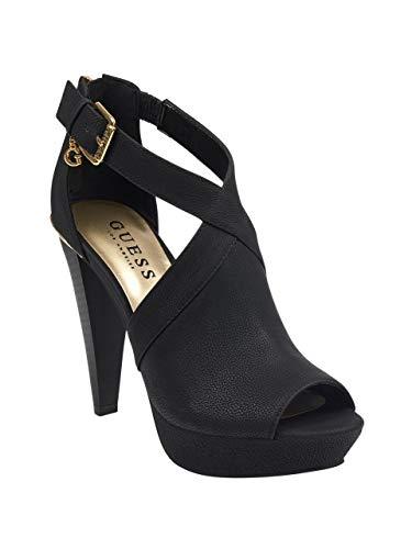 GUESS Factory Neile Peep-Toe Platform Heels Black