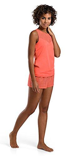 Hanro Damen Top 072161, Coral, L