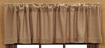 Lasting Impressions Burlap Natural Cotton Window Valance, 16-Inch-by-72-Inch