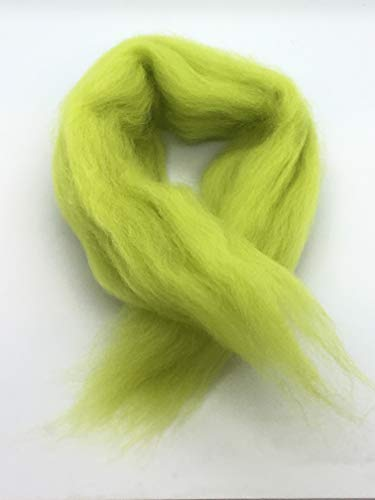 1lb Celedon Green Wool Top Roving - Spinning, Felting, Crafts USA by Shep's Wool (Image #3)