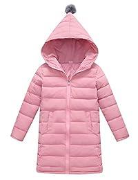 AIEOE Baby Hooded Down Coat Children Windproof Jacket Kids Warm Padded Overcoat