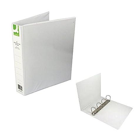 Q-Connect KF01329Q - Archivador (A4, 4 anillas, lomo 40 mm), color blanco (paquete de 6 piezas): Amazon.es: Oficina y papelería