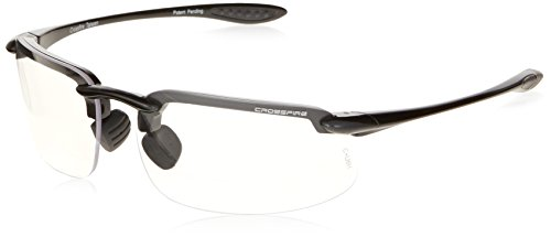 Crossfire Eyewear 216420 2.0 Diopter ES4 Safety Glasses with Gray Frame and Clear - Small Faces For Eyewear