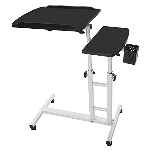 Lazy Laptop Desk,Lefthigh Home Adjustable Mobile Creative Computer Table Folding Lift Rotating Bedside Stand 17.32inch×15.75inch ()