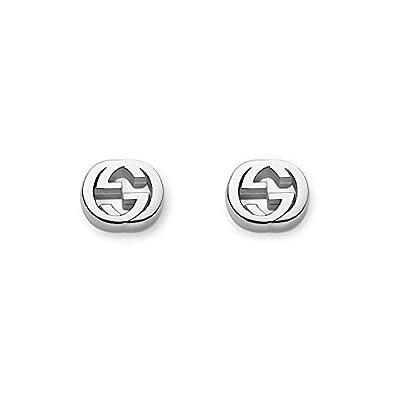52d374ec9 Gucci Trademark Boucles d'oreilles Logo Argent: Amazon.fr: Bijoux