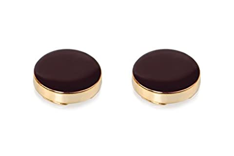 Burgundy & Gold Button Covers - The Only Cufflinks for Shirts with Buttons