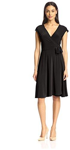 Jb Par Julie Florentine Des Femmes Brunes De Noir Wrap Dress