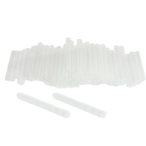 eDealMax 100 piezas de plástico Blanco claro redondeada en Forma de U Inferior 3 Largo Tubo de ensayo 4 ml: Amazon.com: Industrial & Scientific