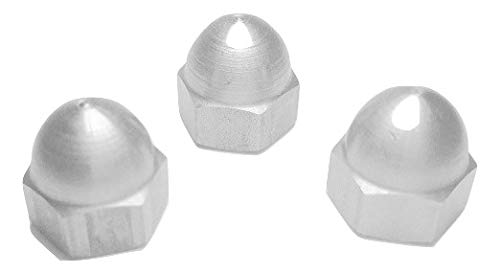 WARREN BOLT 10-32 Acorn Nut Low Crown 18-8 Stainless Steel USA Made Pack of 50pc
