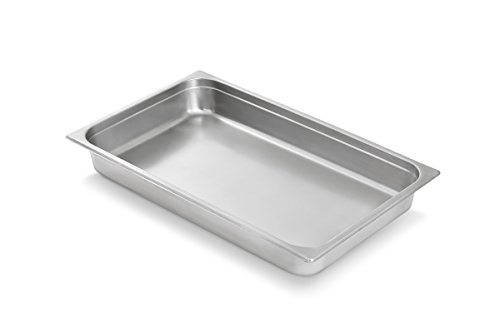 Artisan Stainless Steel Steam Table Chafer Pan, Full-Size, 8-Quart Capacity