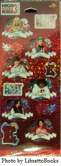 High School Musical 3 Foil Scrapbook Stickers (Musical Foil)