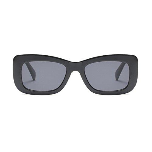 vintage de marco cuadradas de Aiweijia Gris de leopardo sol Gafas Gafas rectangulares Oscuro sol retros Moda qaX8Xw