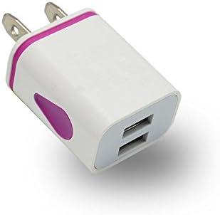 Enchufe del Cargador USB, 1pcs 2 Puertos USB Colorido gotita de ...