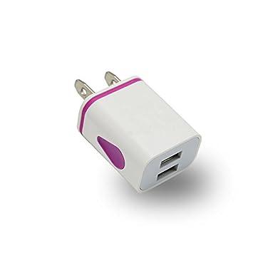Enchufe del Cargador USB, 1pcs 2 Puertos USB Colorido gotita ...
