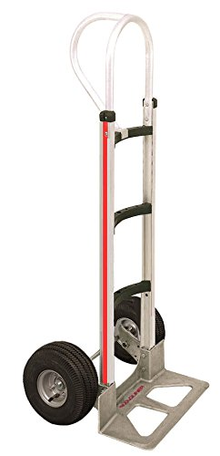 Aluminum Curved Frame (Hand Truck Aluminum Modular Hand Truck with Vertical Loop Handle & Curved Frame)