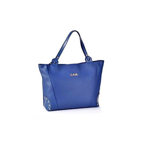 Victorio & Lucchino Bolso de Mujer Shopping con Tachuelas El Caballo 1020 Outlet Azul