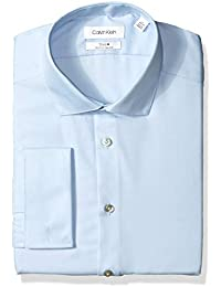 Men's Non Iron Slim Fit French Cuff Dress Shirt