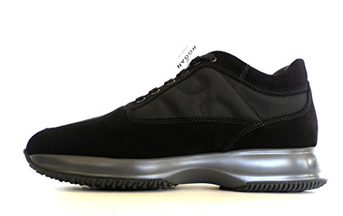 Hogan scarpe uomo interactive allacciato modello HXM00N00010B2A9999 nero