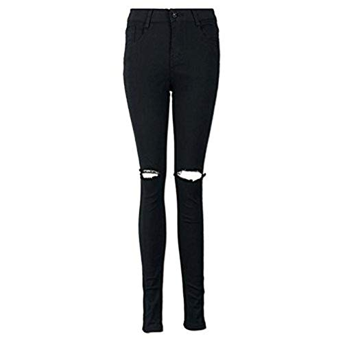 Baiggooswt Women Cool Ripped Knee Cut Skinny Long Jeans Pant
