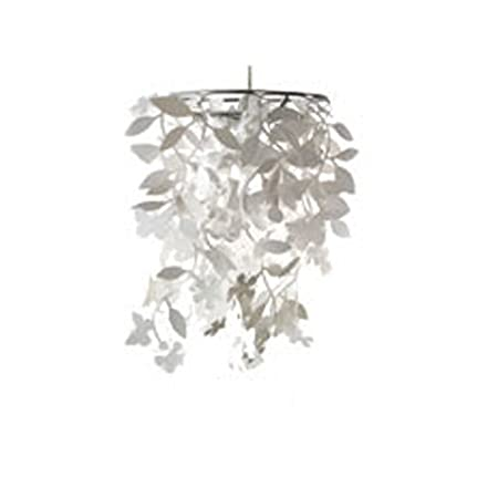 May white flower and butterfly lampshade amazon kitchen home may white flower and butterfly lampshade mozeypictures Choice Image