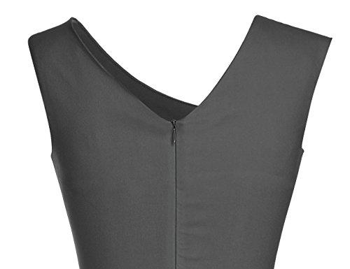 MUXXN Women's Retro 1950s Style Sleeveless Slim Business Pencil Dress 4