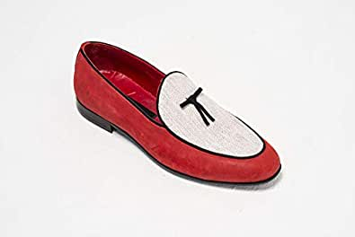 Konfidenz Belgian red & white moccasins for men