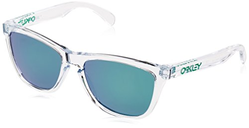 Oakley Men's Frogskins Non-Polarized Iridium Square Sunglasses, Polished Clear, 55 ()