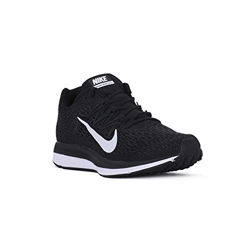 Nike Men's Air Zoom Winflo 5 Running Shoe, Black/White-Anthracite, 10