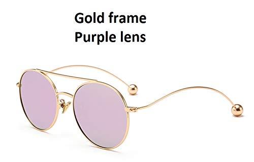 de Soleil Enfants métal courbure Lunettes Cadre en Ruiyue Femme Purple de H670nw