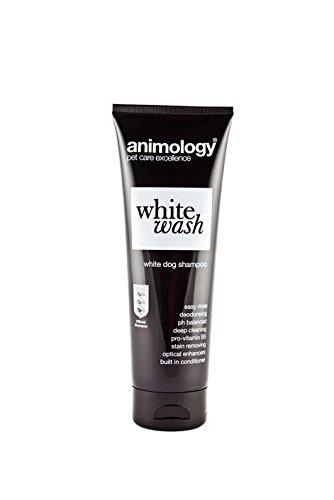 Animology Blanc Wash Shampoing pour chien taches retrait facile rincer Désodorisant 250ml