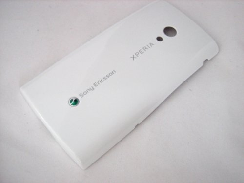 White Back Battery Cover Door Housung Case Fascia Plate Panel for Sony Ericsson Xperia X10 ~ Mobile Phone Repair Parts Replacement (Covers Fascia White Phone)