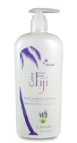 Coco Fiji, Coconut Oil Infused Face & Body Lotion, Lavender 12oz