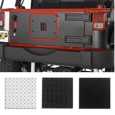 Warrior Products 920D-3 Center Tailgate Cover for Jeep JK 07-10 ()