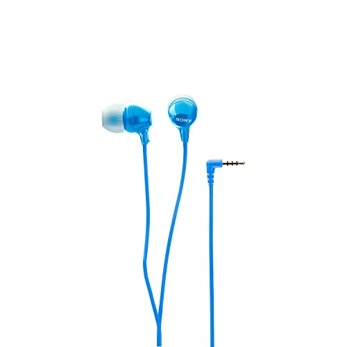 Sony MDR-EX15AP In-Ear Headphones with Mic  (Blue)