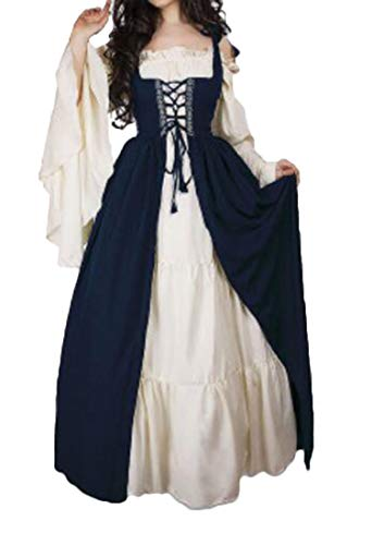 X-Future Womens Vintage Renaissance Medieval Costumes Halloween Dress
