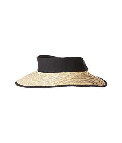 San Diego Hat Company Women's UBV037 Roll Up Visor with Canvas and Terry Cloth Sweatband Black One Size