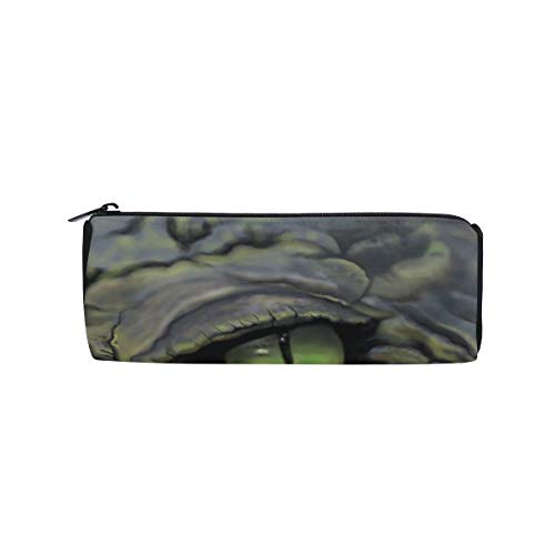 - Fierce and Terrible Big Crocodile Students Super Large Capacity Barrel Pencil Case Pen Bag Cotton Pouch Holder Makeup Cosmetic Bag for Kids