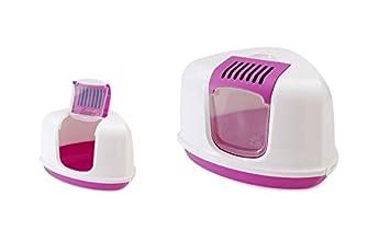 Toilette accessoriata Savic Nestor Corner - Arenero esquinero para gatos con apertura superior, de plástico, completa de accesorios: Amazon.es: Deportes y ...