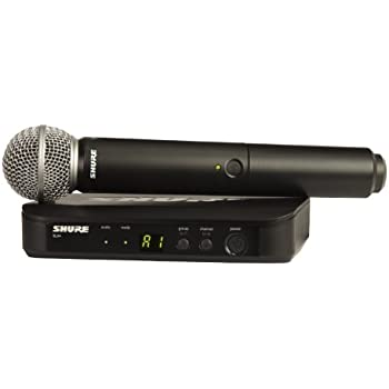 Shure BLX24/SM58-H9 Wireless Vocal System with SM58 Handheld Microphone, H9