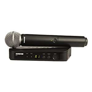 Shure BLX24/SM58 Wireless Microphone System with BLX4 Receiver and BLX2 Handheld Transmitter with SM58 Mic Capsule, the…