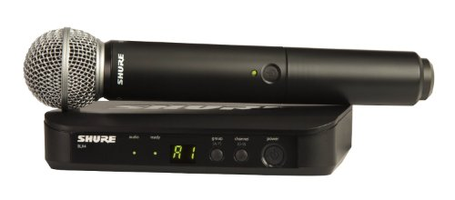 (Shure BLX24/SM58 Handheld Wireless System with SM58 Vocal Microphone, H9)