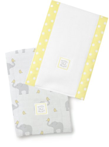 SwaddleDesigns Burpies Cotton Elephant Chickies product image
