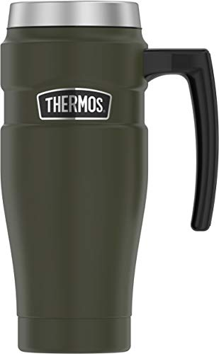 (Thermos SK1000AG4 Stainless Steel King Travel Mug, 16 Ounce, Matte Army Green)