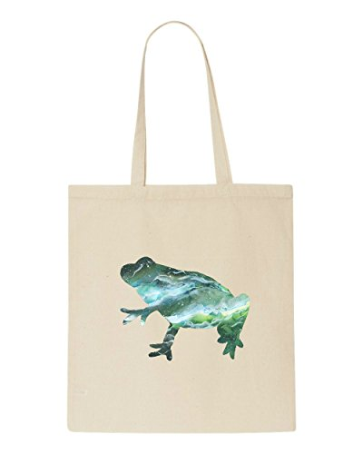 Tote Frog Cosmic Bag Space Beige Animal Nebula Silhouette Shopper nrZwXzZIqx