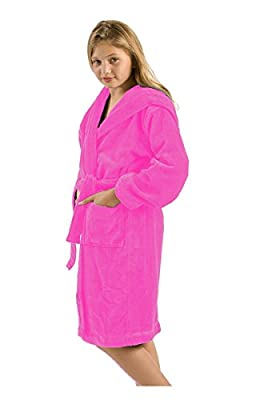 Brushed Bamboo Terry Cloth Kids Hooded Robe Bathrobe for Boys and Girls