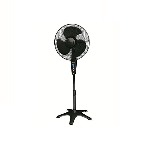 "Honeywell HS-1655 QuietSet 16"" Stand Fan - Black"