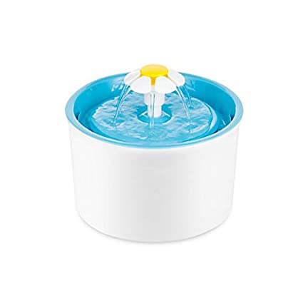 Dispensador de Agua de Gato Flor dispensador de Agua para Mascotas Perro eléctrico circulación Filtro Agua